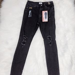 Simple Society High Rise Ankle Skinny Jeans Black